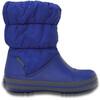 Crocs Winter Puff Boots Kids Cerulean Blue/Light Grey